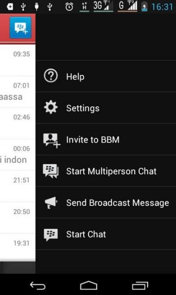 ... pada hp android sama dengan penggunaan bbm pada hp blackberry begitu