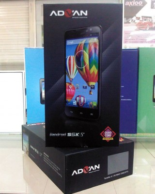 Advan Vandroid S5K Harga Spesifikasi, Android 5 Inci CPU Quad Core 2 Jutaan