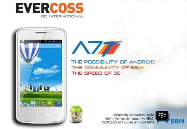 EverCoss A7T, Smartphone 3G Murah Bisa BBM'an